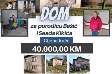 ZA SAMO 40.000,00 KM MOŽEMO OMOGUĆITI DOM ZA DVIJE GRADAČAČKE PORODICE!